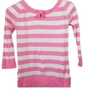 2/$25 L-RL,Lauren Active, pink white top small
